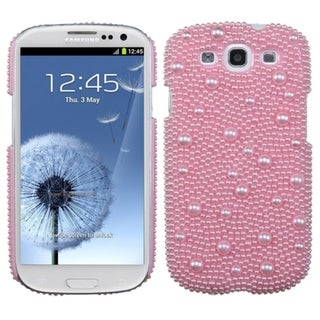 INSTEN Pink Pearl Diamond Back Phone Case Cover for Samsung copy; Galaxy S III 3