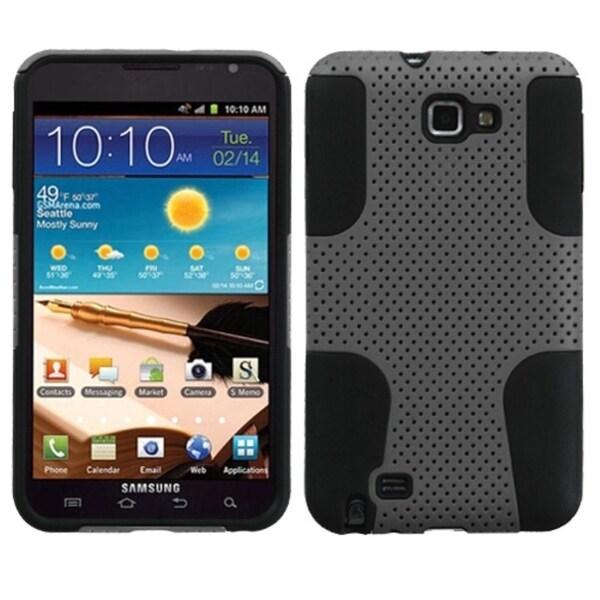 BasAcc Grey Silicone Hybrid Case for Samsung I717 Galaxy Note T879