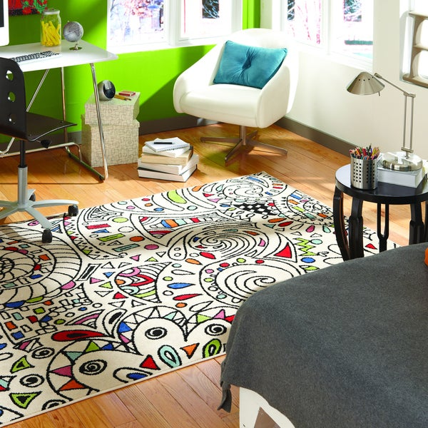 Indoor/Outdoor Jamboree Multi Rug (8' x 10')