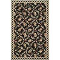 Safavieh Hand-hooked Chelsea Black/ Ivory Wool Rug - 5'3 x 8'3