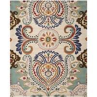 Safavieh Handmade Bella Ivory/ Blue Wool Rug - 4' x 6'
