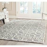 Safavieh Handmade Cambridge Moroccan Blue/ Silver Dense Wool Rug (4' x 6') - 4' x 6'