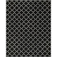 Safavieh Handmade Moroccan Black-and-White Wool Rug - 6' x 9'