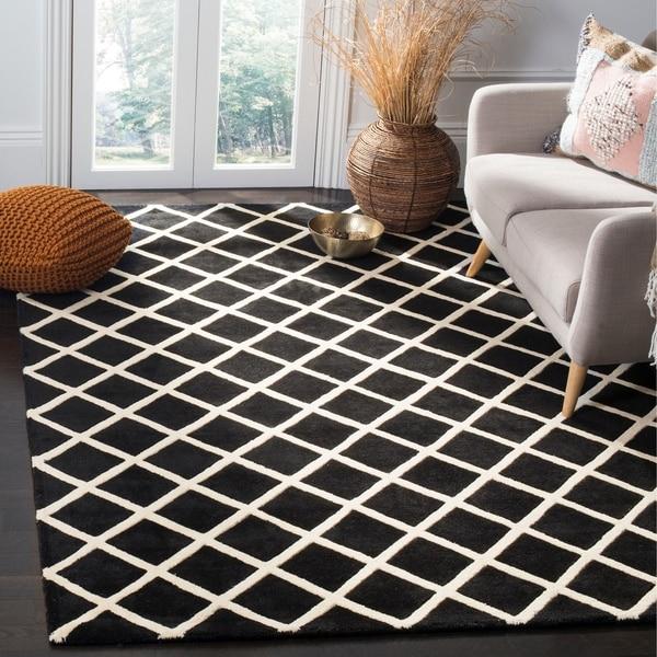 Safavieh Handmade Moroccan Black Pure Wool Rug - 8' x 10'