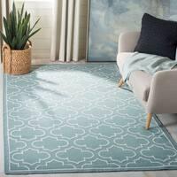 Safavieh Hand-woven Moroccan Reversible Dhurrie Blue Wool Rug - 9' x 12'