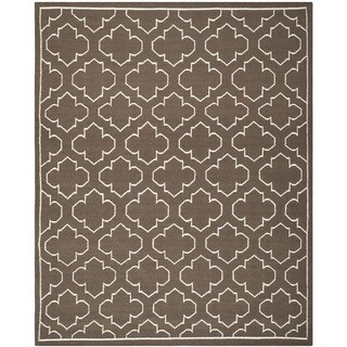 Safavieh Handwoven Moroccan Reversible Dhurrie Traditional Brown Wool Rug (6' x 9')