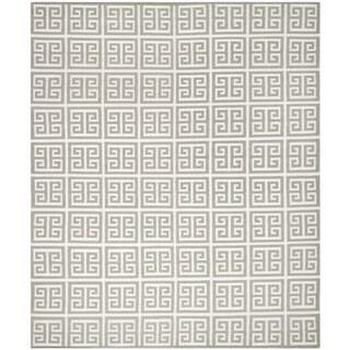 Safavieh Hand-woven Moroccan Reversible Dhurrie Grey Wool Rug (8' x 10')
