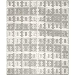 Safavieh Hand-woven Moroccan Reversible Dhurrie Grey Wool Rug (9' x 12')|https://ak1.ostkcdn.com/images/products/7997089/Safavieh-Hand-woven-Moroccan-Dhurrie-Grey-Wool-Rug-9-x-12-P15363932.jpg?impolicy=medium