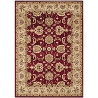 Safavieh Majesty Red/ Camel Rug (5'3 x 7'6)