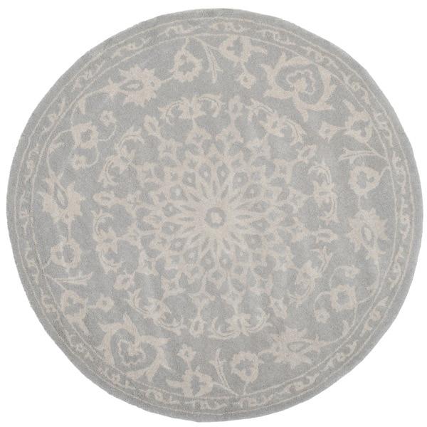 Safavieh Handmade Bella Grey Silver Wool Rug 5 X 5