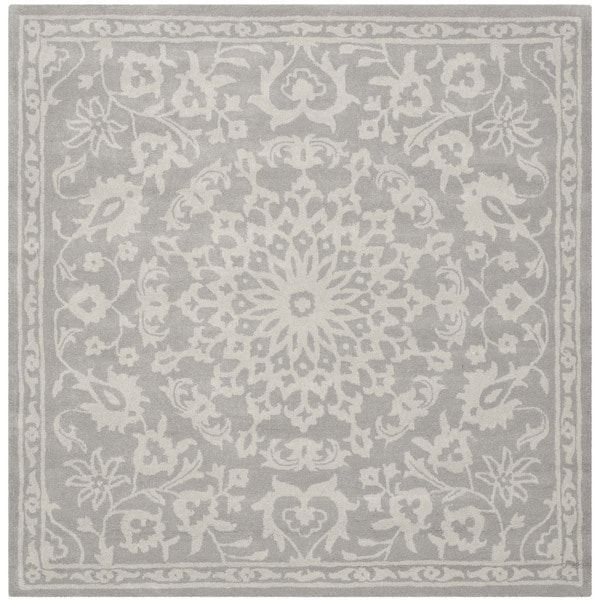 Safavieh Handmade Bella Grey Silver Wool Rug 6 X 6