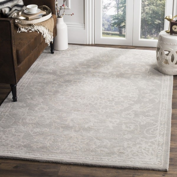 Shop Safavieh Handmade Bella Grey Silver Wool Rug 6