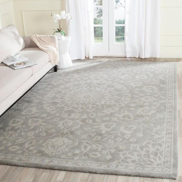 Shop Safavieh Handmade Bella Grey Silver Wool Rug 8 X