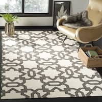 Safavieh Hand-woven Moroccan Reversible Dhurrie Ivory Wool Rug (6' Square) - 6'
