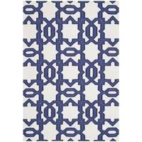 Safavieh Handwoven Moroccan Reversible Dhurrie Ivory Wool Geometric Rug - 8' x 10'