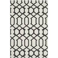 Safavieh Handwoven Indoor/Outdoor Moroccan Reversible Dhurrie Ivory Wool Rug - 8' x 10'