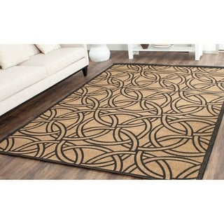 Martha Stewart by Safavieh Links Gold/ Black Indoor/ Outdoor Rug (6'7 x 9'6)