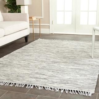Safavieh Hand-woven Montauk Silver Cotton Rug (4' x 6')
