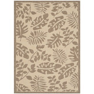 Martha Stewart by Safavieh Paradise Cream/ Brown Indoor/ Outdoor Rug (4'x 5'7)