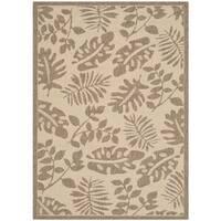 Martha Stewart by Safavieh Paradise Cream/ Brown Indoor/ Outdoor Rug (4'x 5'7) - 4' x 5'7
