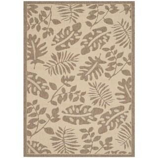 Martha Stewart by Safavieh Paradise Cream/ Brown Indoor/ Outdoor Rug (4'x 5'7)