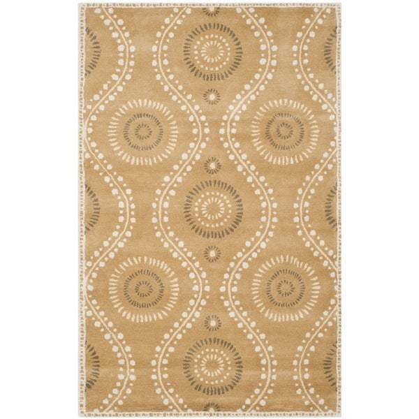 Martha Stewart Ogee Dot Curry Wool Rug (5'x 8')