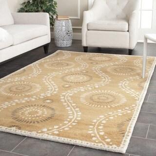 Martha Stewart by Safavieh Ogee Dot Curry Wool Rug (5'x 8')