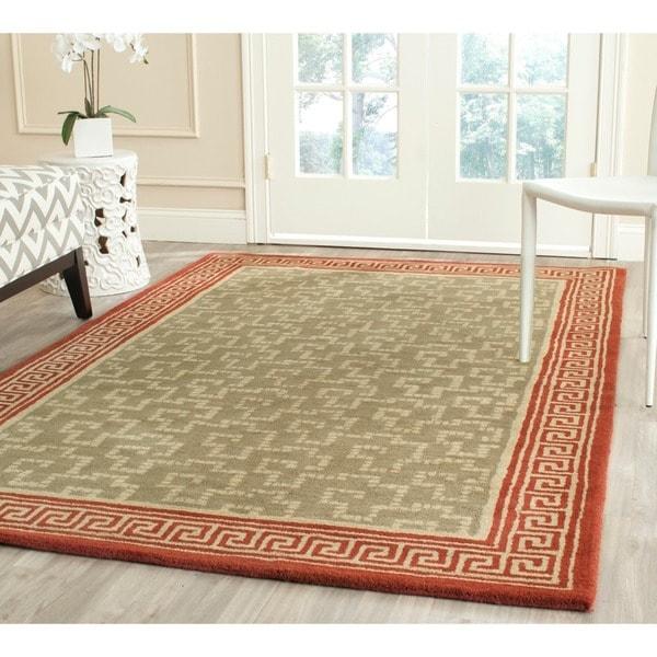 Martha Stewart by Safavieh Byzantium Sealing Wax Wool Rug - 8' x 10'