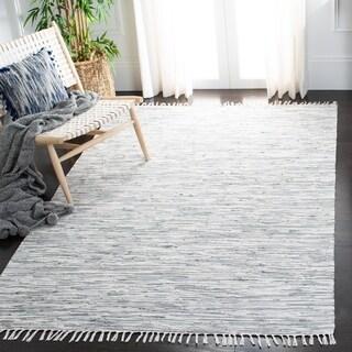 Safavieh Hand-woven Montauk Silver Cotton Rug (5' x 8')