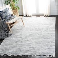 Safavieh Hand-woven Montauk Silver Cotton Rug - 5' x 8'