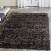 Safavieh Rhapsody Shag Charcoal Grey Polyester Rug - 3'11 x 5'7