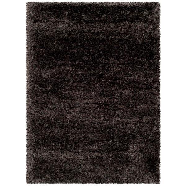 """Safavieh Rhapsody Shag Charcoal Grey Polyester Rug - 7'10"""" x 10'10"""""""