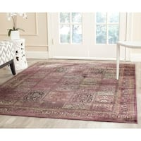 Safavieh Vintage Purple/ Fuchsia Distressed Panels Silky Viscose Area Rug - 8' x 11'2