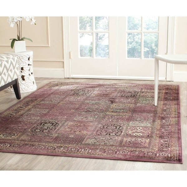 Safavieh Vintage Purple/ Fuchsia Distressed Panels Silky Viscose Area Rug - 8' x 11'2