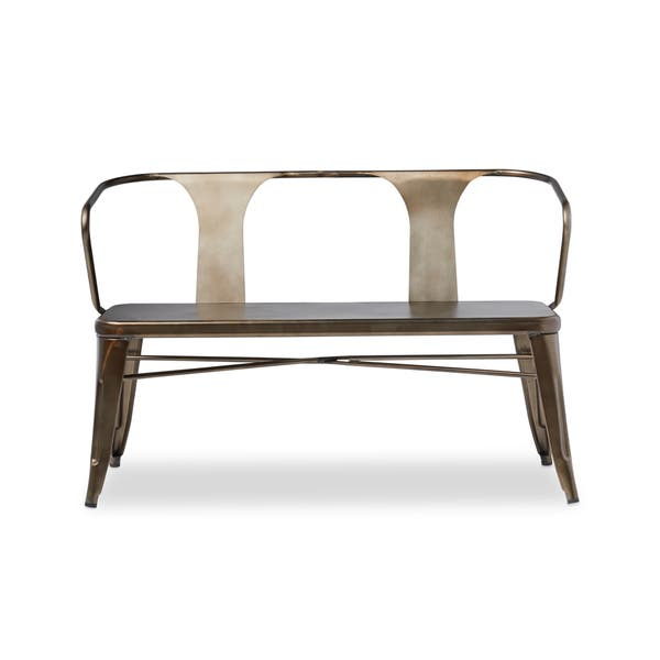Surprising Shop Vintage Metal Dining Bench With Back Free Shipping Forskolin Free Trial Chair Design Images Forskolin Free Trialorg