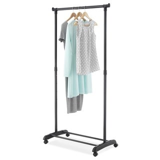 Whitmor Chrome/ Black Adjustable Steel Garment Rack