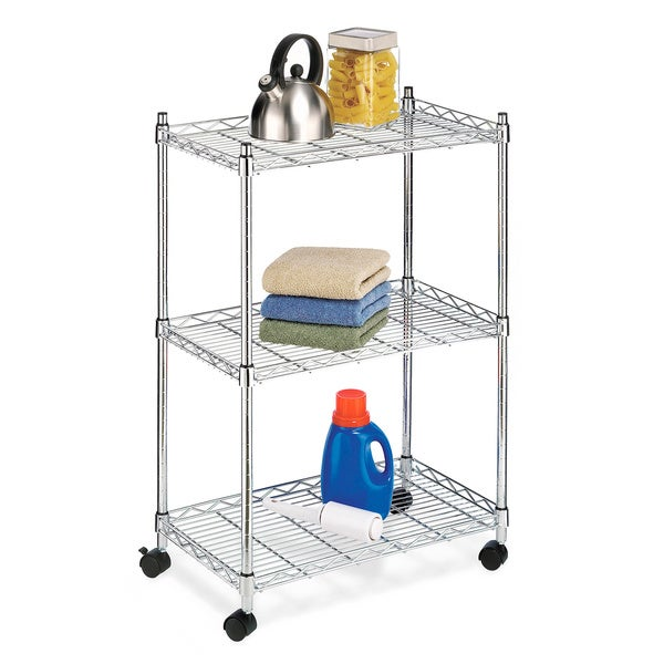Shop Simple Living Rolling Galvin Microwave Cart: Whitmor Rolling Utility Cart
