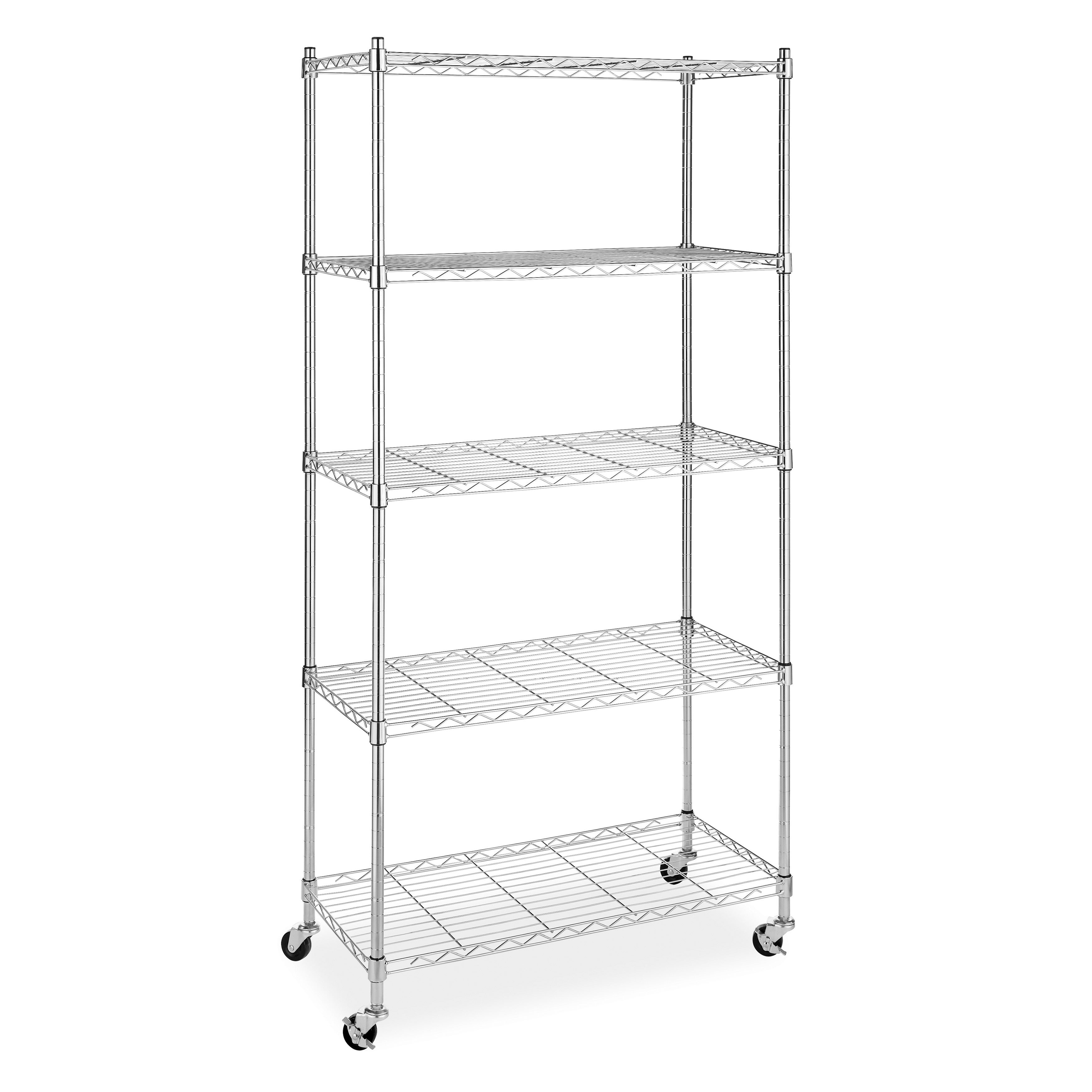 Whitmor Mfg Co 5-tier Storage Rack, Silver