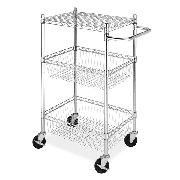 shop whitmor supreme steel utility cart - free shipping today - overstock