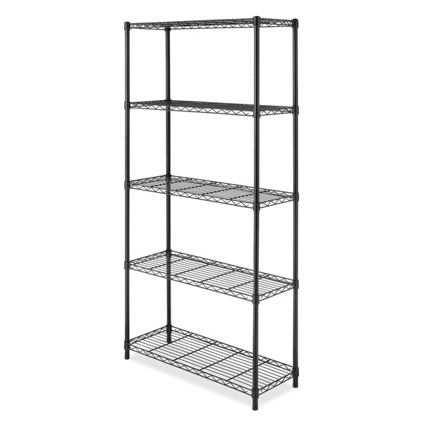 Whitmor Black Ventilated 5-shelf Storage Rack