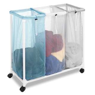 Whitmor 6208-2417 3-section Plastic/ Mesh Laundry Sorter