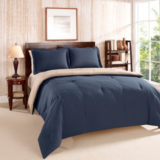 Tommy hilfiger solid reversible 3 piece comforter set free shipping today for Tommy hilfiger bedroom furniture