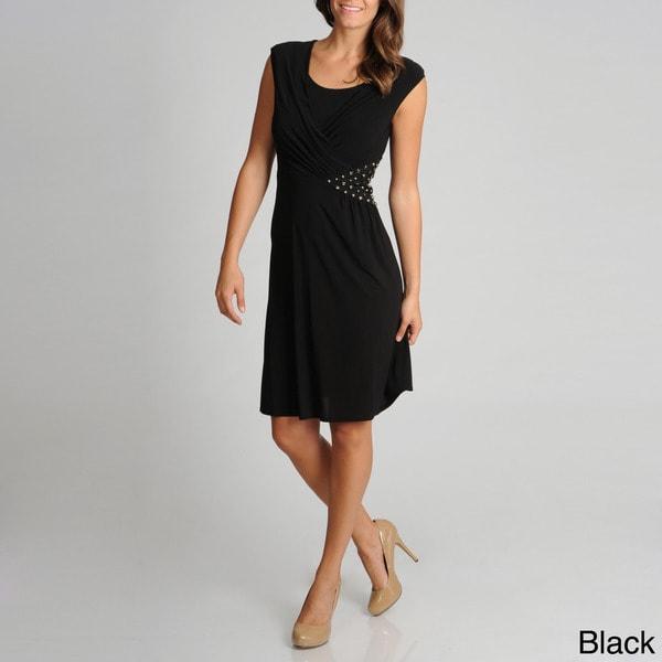 R & M Richards Women's Stud-embellished Dress
