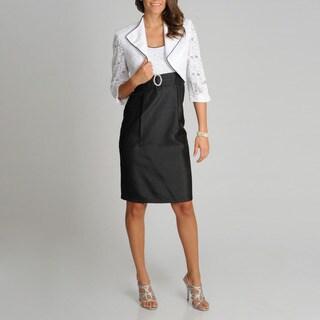 R & M Richards Women's Fashion 2-piece Sequin Lace Bodice Jacket Dress