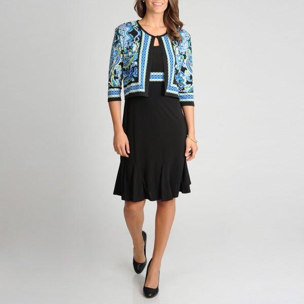 R & M Richards Women's 2-piece Jacket Dress