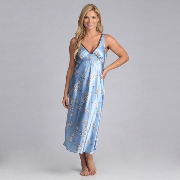 Jones New York Intimates Printed Satin Gown