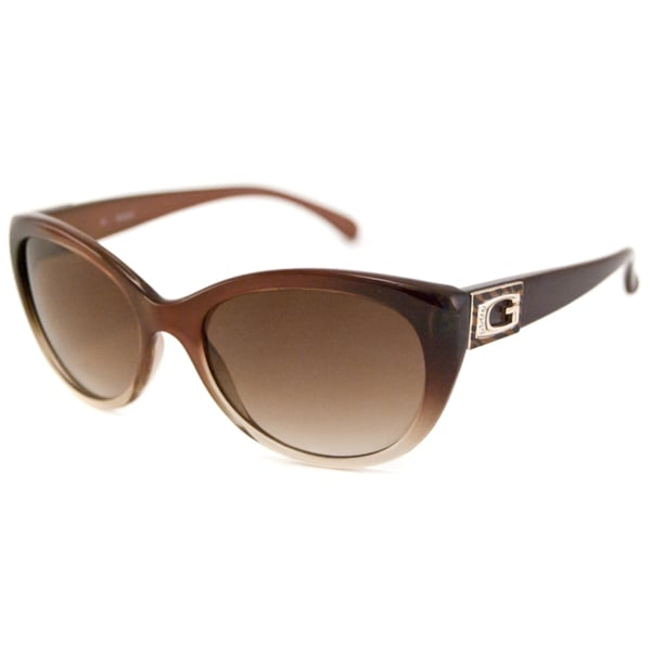 Guess Women's GU7177 Cat-Eye Brown Sunglasses