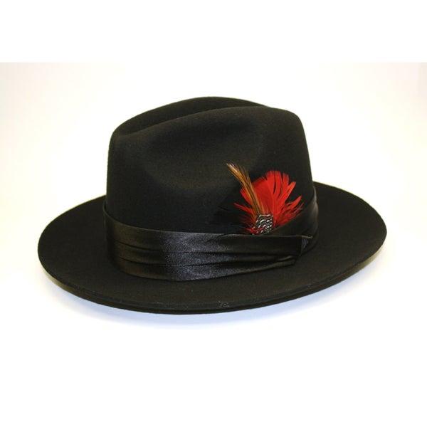 Ferrecci Kid's Black Stingy Fedora Hat