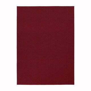 Somette Westlake Royal Red Area Rug (5' x 7')