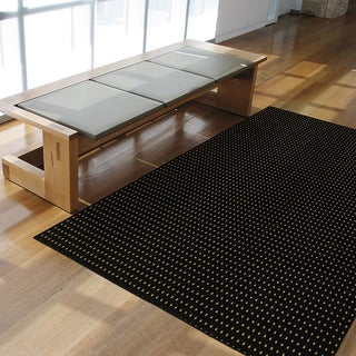 Somette Torrington Black and Ale and Stout Area Rug (5' x 7')